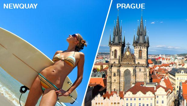 The stag do match up! Prague V Newquay