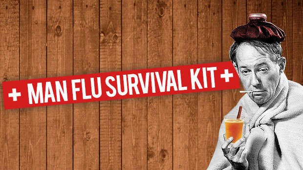 Man flu survival kit infographic