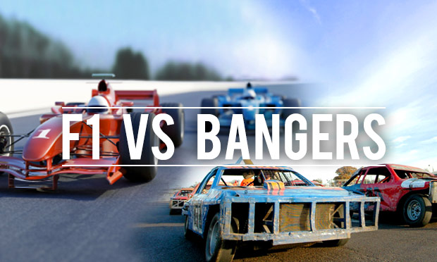 F1 Vs Banger racing