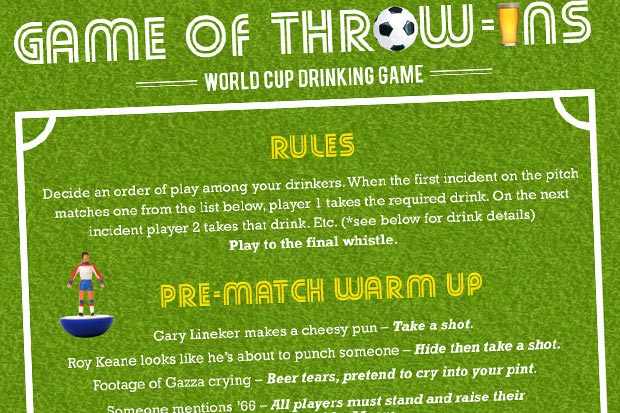 Drinking Game of Throw Ins