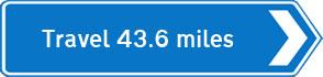 43.6 miles