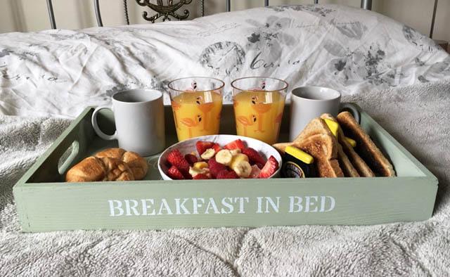 breakfast in bed tray etsy