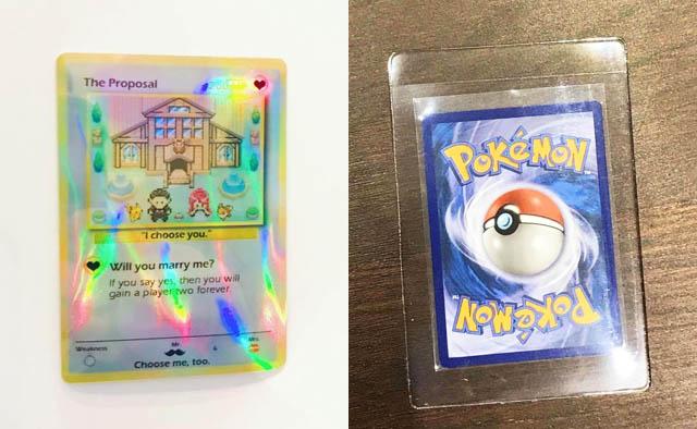 pokemon engagement card etsy