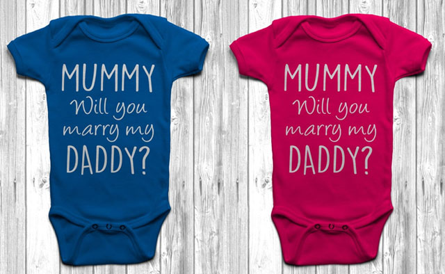 baby grow proposal etsy