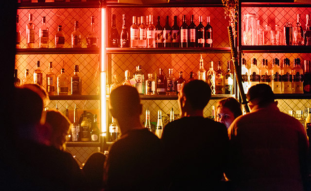 Men in a bar