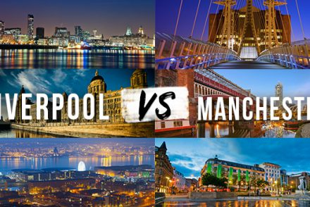 Liverpool and Manchester