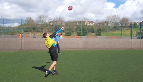 american football in dublin stag party activity 1
