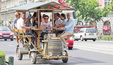 beer bicycle action for your group stag party