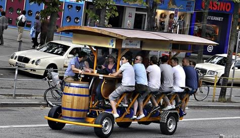 beer bicycle
