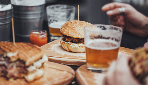beer tasting masterclass and burger