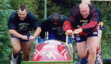 bobsleigh in leeds stag party activity 1