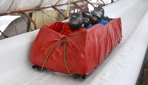 bobsleigh in riga stag party activity 1