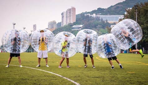 bubble football in tenerife stag party activity 1