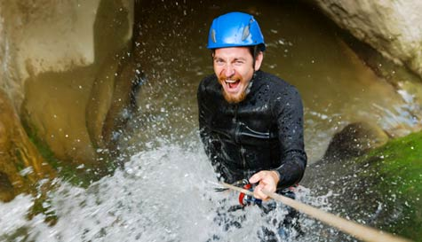 canyoning in  stag party activity 1