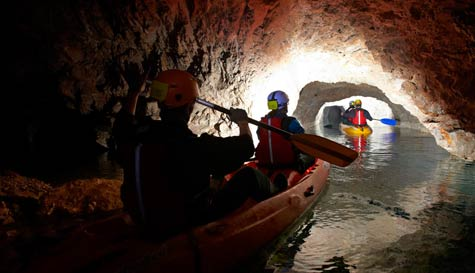 cave kayaking