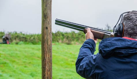 clay shooting action for your group stag party