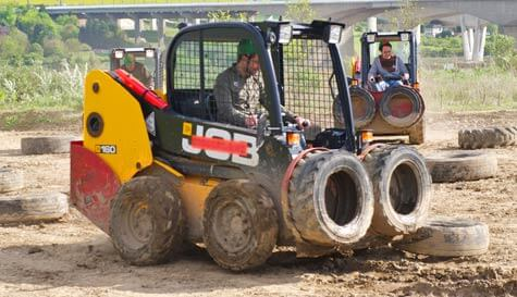 dumper truck racing in  stag party activity 1