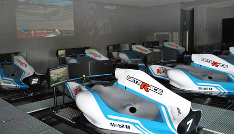 F1 simulator in london stag party activity 1