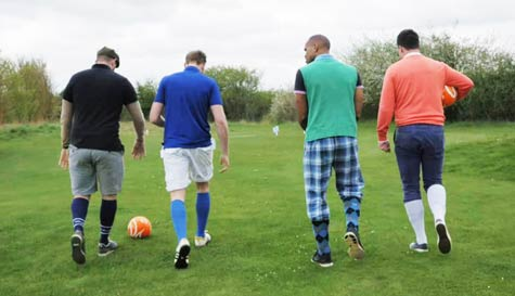 foot golf in dublin stag party activity 1