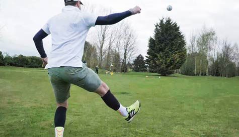 foot golf action for your group stag party