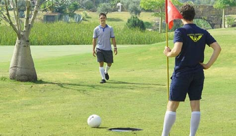 foot golf in marbella stag party activity 1