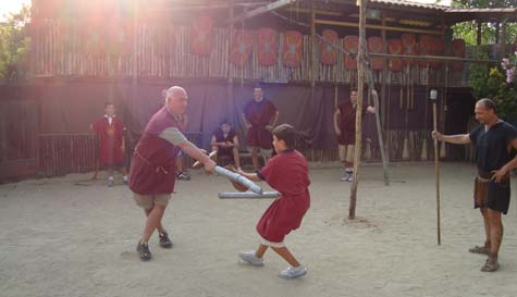 gladiator school in rome stag party activity 1
