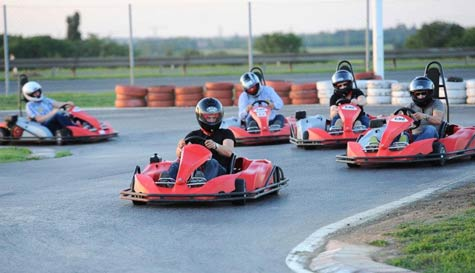 go karting in belgrade stag party activity 1