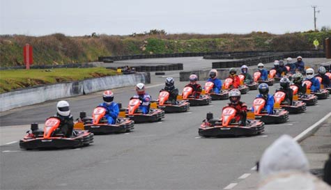 go karting in newquay stag party activity 1