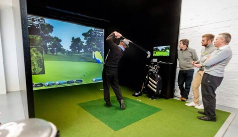 golf simulator in dublin stag party activity 1