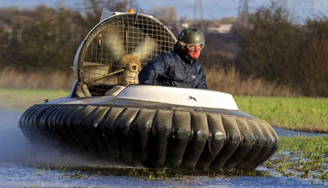 hovercraft racing in liverpool stag party activity 1