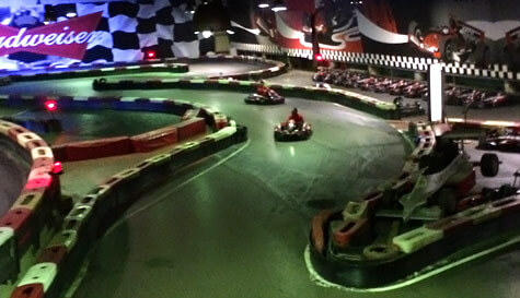 indoor go karting in barcelona stag party activity 1