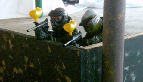 indoor paintballing