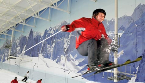 indoor skiing and snowboarding