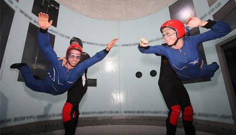 indoor skydiving in cambridge stag party activity 1
