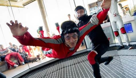 indoor skydiving in warsaw stag party activity 1