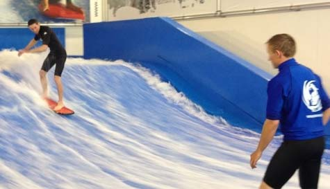 indoor surfing in cardiff stag party activity 1