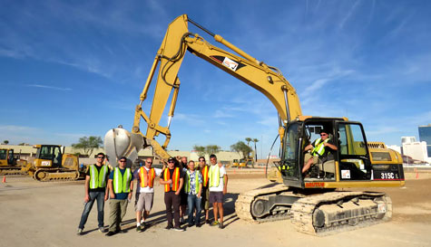 JCB digger driving in las-vegas stag party activity 1