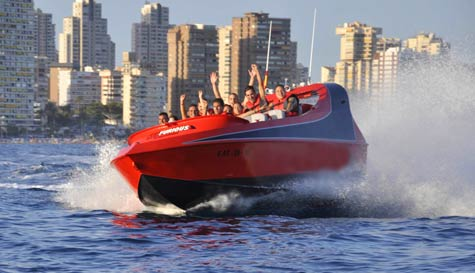 jet boat in benidorm stag party activity 1