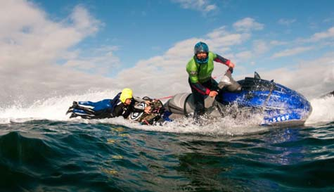 jet ski coasteering in  stag party activity 1