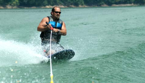 knee boarding in  stag party activity 1