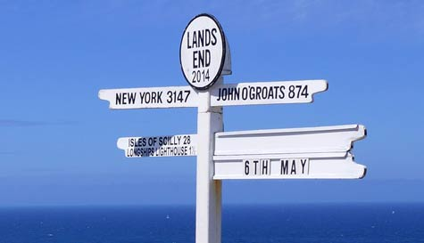 Land's End to John o' Groats in  stag party activity 1
