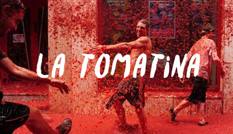 La Tomatina in  stag party activity 1