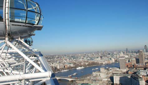 London Eye in  stag party activity 1