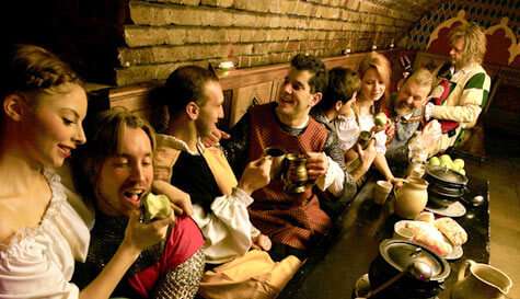 medieval banquet in  stag party activity 1