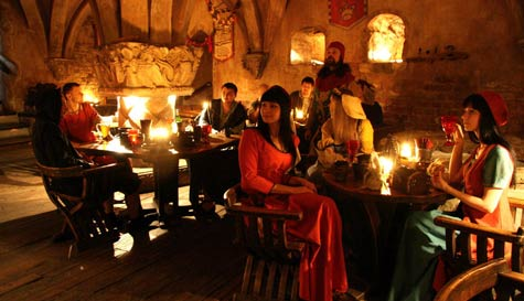 medieval banquet in riga stag party activity 1
