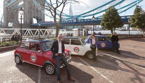 mini cooper landmark tour in london stag party activity 1