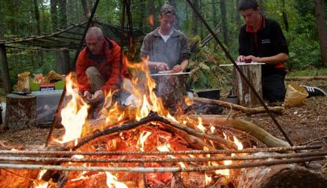 overnight bushcraft survival in bournemouth stag party activity 1