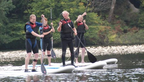 paddleboarding in  stag party activity 1