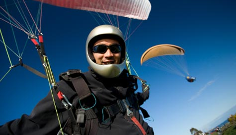 paragliding in  stag party activity 1