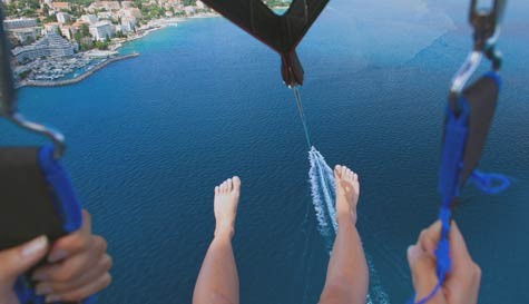 parasailing in  stag party activity 1